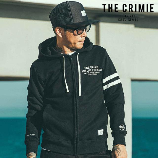 CRIMIE(クライミー) LOGO SWEAT ZIP PARKA 【ジップパーカー】【ブラック ネイビー アメカジ ミリタリー】【シンプル おしゃれ】【