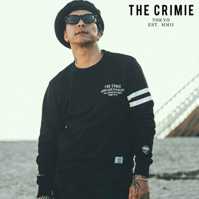 CRIMIE(クライミー) LOGO SWEAT 【スウェット ロゴ】【ブラック ネイビー アメカジ ミリタリー】【シンプル おしゃれ】【CR01-02L1