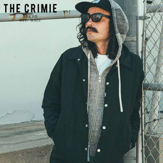 CRIMIE(クライミー) WRINKLE COACH JACKET 【コーチジャケット】【ブラック カーキ アメカジ ミリタリー】【シンプル おしゃれ】【