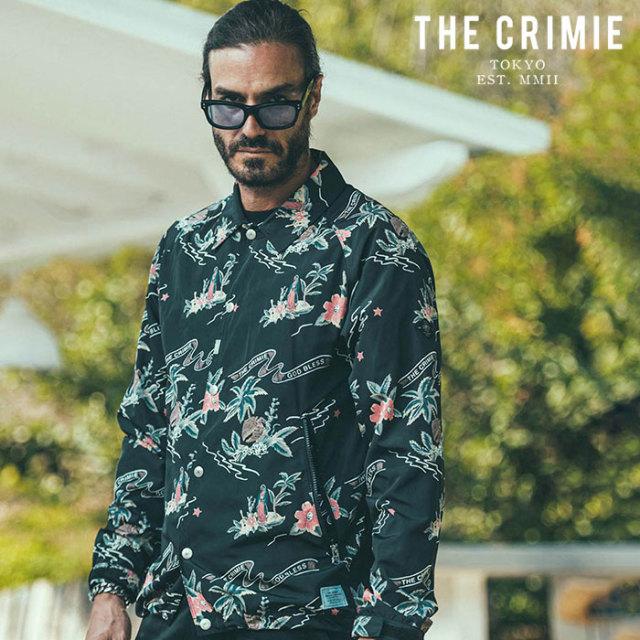 CRIMIE(クライミー) MARIA COACH JACKET 【コーチジャケット】【ブラック アメカジ ミリタリー】【シンプル おしゃれ】【CR01-02L1