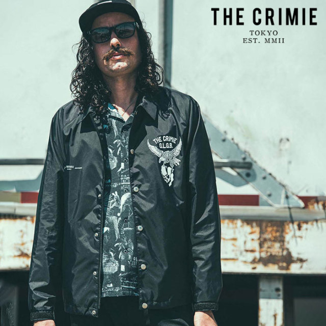 CRIMIE(クライミー) EAGLE COACH JACKET 【コーチジャケット】【ブラック アメカジ ミリタリー】【シンプル おしゃれ】【CR01-02L1