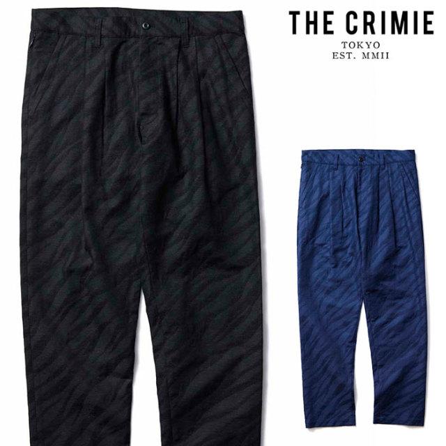 CRIMIE(クライミー) TIGER JACQUARD 2TACK PANTS 【2タックパンツ】【ブラック ネイビー アメカジ ミリタリー】【シンプル おしゃ