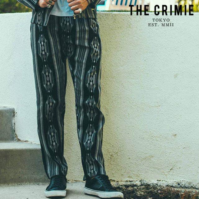 CRIMIE(クライミー) NATIVE JACQUARD 2TACK PANTS 【2タックパンツ】【ブラック ネイビー アメカジ ミリタリー】【シンプル おしゃ