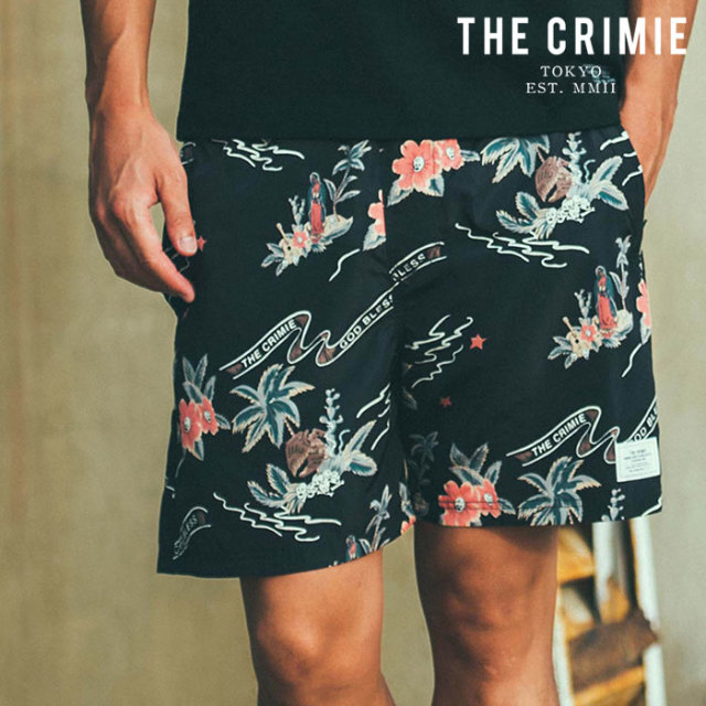 【SALE30%OFF】 CRIMIE(クライミー) MARIA TOWN & SWIM SHORTS 【セール】【ショーツ スイムパンツ】【ブラック アメカジ ミリタ