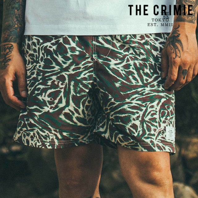 CRIMIE(クライミー) BAT CAMO TOWN & SWIM SHORTS 【ショーツ スイムパンツ】【ホワイト カーキ アメカジ ミリタリー】【シンプル