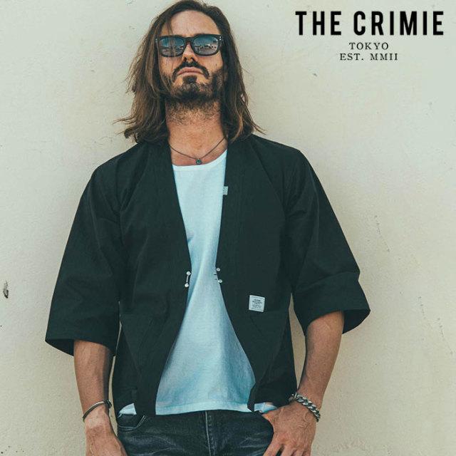 CRIMIE(クライミー) NYLON & COTTON JINBEI SHIRT 【甚平シャツ】【ブラック ベージュ アメカジ ミリタリー】【シンプル おしゃれ