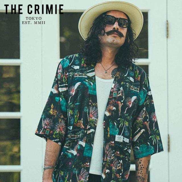 CRIMIE(クライミー) LAS VEGAS ALOHA JINBEI SHIRT 【甚平シャツ】【ブラック ホワイト アメカジ ミリタリー】【シンプル おしゃれ