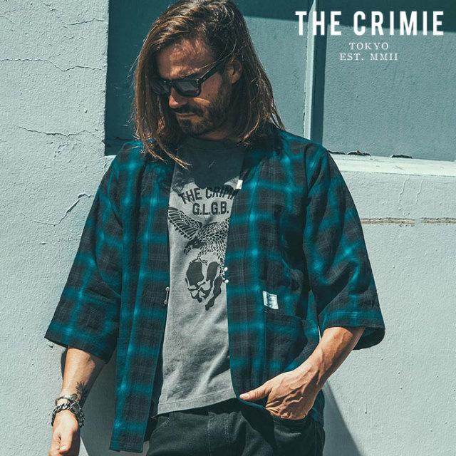 CRIMIE(クライミー) OMBRE CHECK JINBEI SHIRT 【甚平シャツ】【ブラック ブルー レッド アメカジ ミリタリー】【シンプル おしゃ