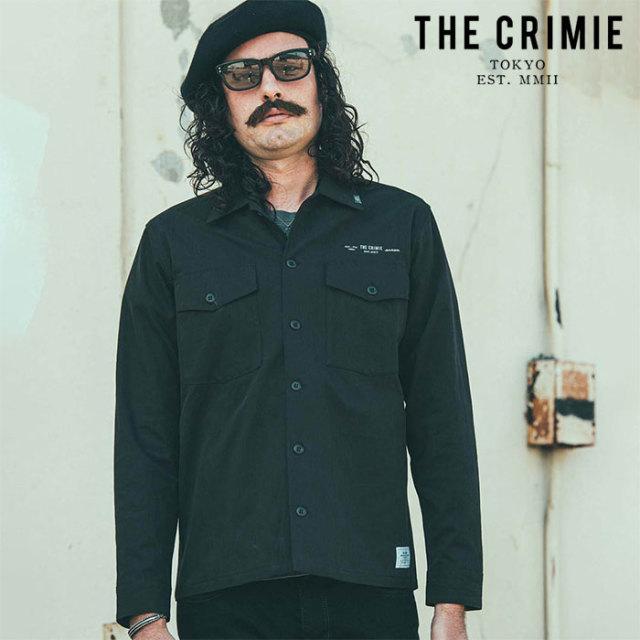 CRIMIE(クライミー) NYLON & COTTON MILITARLY SHIRT 【ミリタリーシャツ】【ブラック ベージュ アメカジ ミリタリー】【シンプル