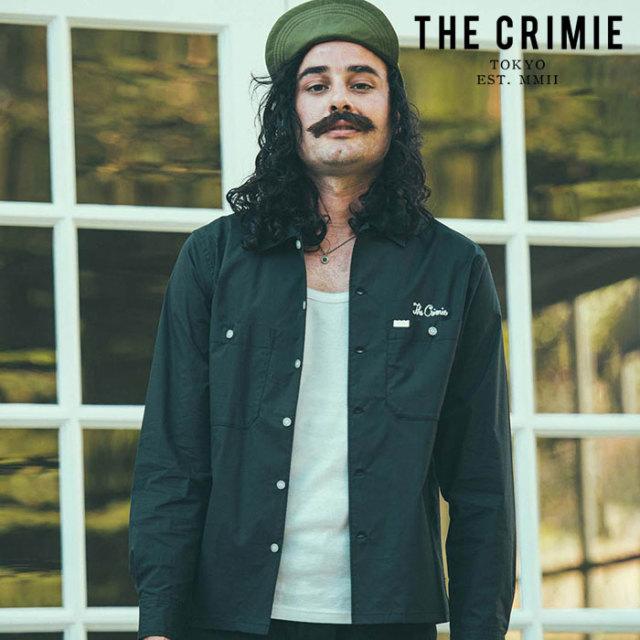 CRIMIE(クライミー) WORK STRETCH SHIRT 【ワークシャツ】【ブラック ネイビー アメカジ ミリタリー】【シンプル おしゃれ】【CR01