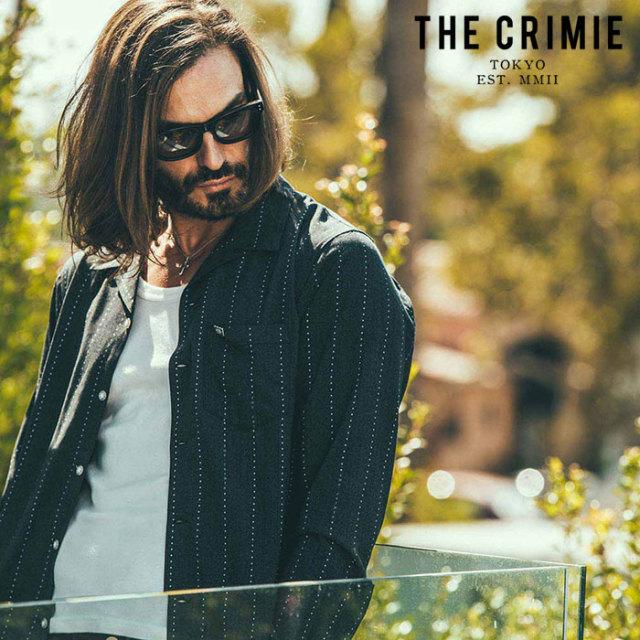 CRIMIE(クライミー) STAR STRIPE WASHABLE RAYON SHIRT 【シャツ レーヨンシャツ】【ブラック ネイビー アメカジ ミリタリー】【シ