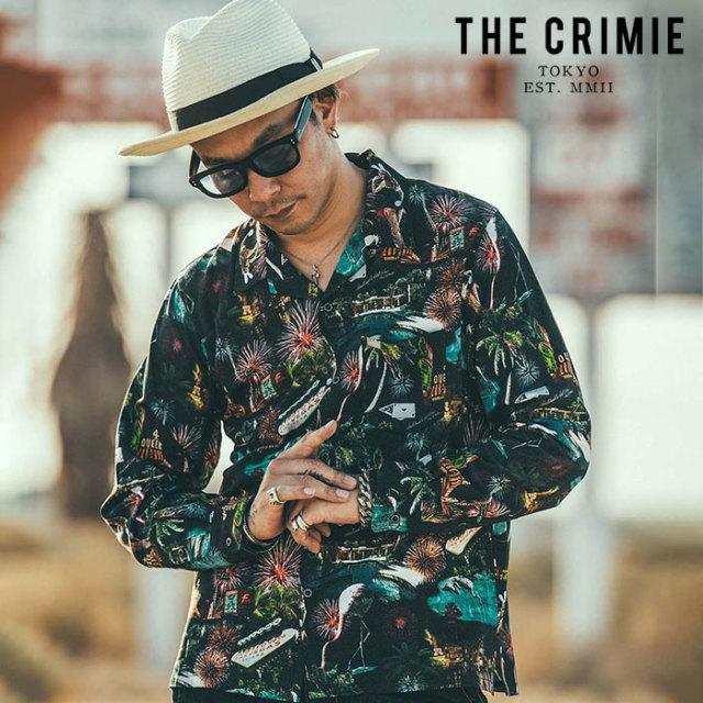 CRIMIE(クライミー) LAS VEGAS ALOHA SHIRT 【アロハシャツ】【ブラック ホワイト アメカジ ミリタリー】【シンプル おしゃれ】【C