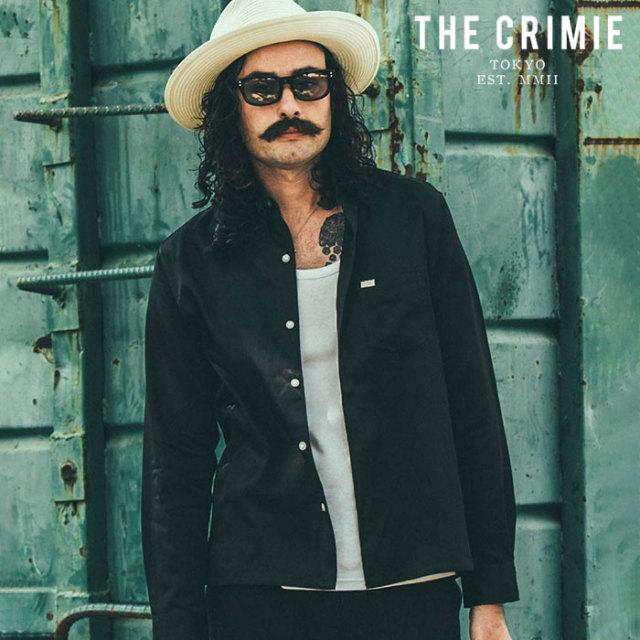 CRIMIE(クライミー) MILITARY SATAIN SHIRT 【サテンシャツ】【ブラック ネイビー ホワイト アメカジ ミリタリー】【シンプル おし