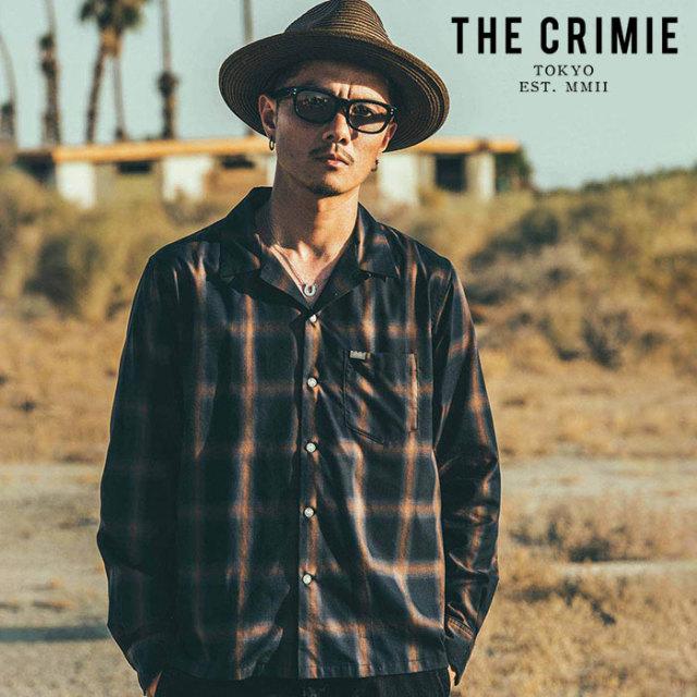 CRIMIE(クライミー) OPEN CHECK SHIRT 【オープンカラーシャツ 長袖シャツ】【ネイビー ホワイト ブラウン アメカジ ミリタリー】