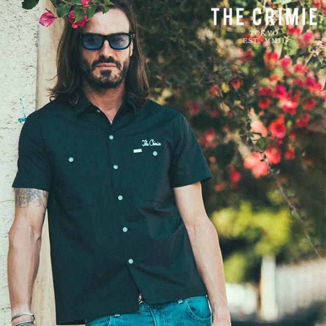 CRIMIE(クライミー) WORK STRETCH SHORT SLEEVE SHIRT 【ワークシャツ 半袖シャツ】【ブラック ネイビー アメカジ ミリタリー】【