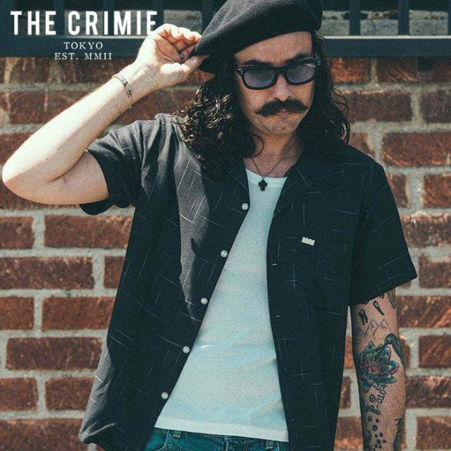 CRIMIE(クライミー) VINTAGE RAYON SHORT SLEEVE SHIRT 【レーヨンシャツ 半袖シャツ】【ブラック ホワイト ネイビー アメカジ ミ