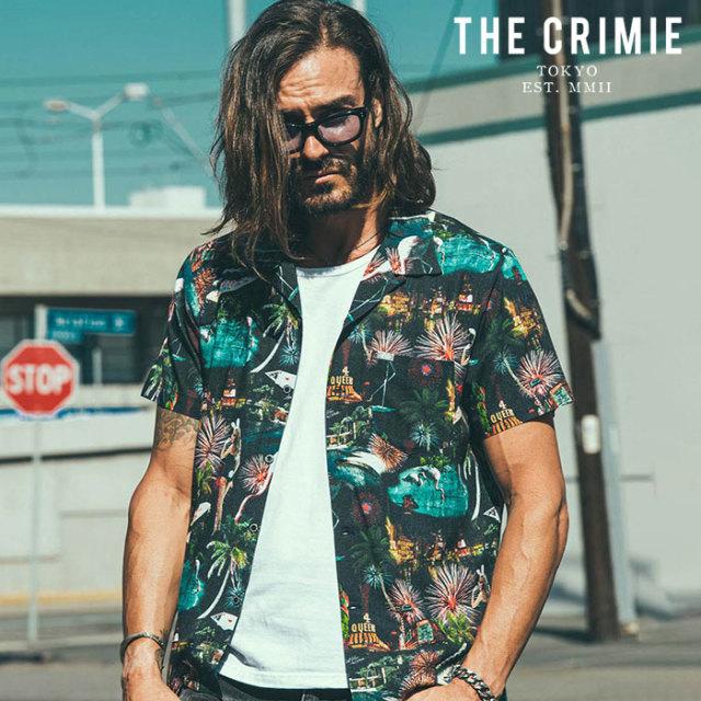 CRIMIE(クライミー) LAS VEGAS ALOHA SHORT SLEEVE SHIRT 【アロハシャツ 半袖シャツ】【ブラック ホワイト  アメカジ ミリタリー