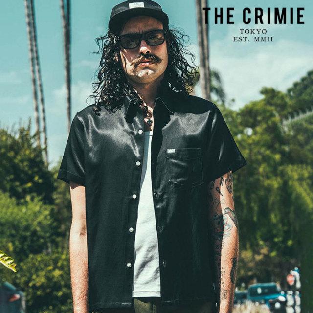 CRIMIE(クライミー) MILITARY SATAIN SHORT SLEEVE SHIRT 【サテンシャツ 半袖シャツ】【ブラック ネイビー ホワイト  アメカジ ミ