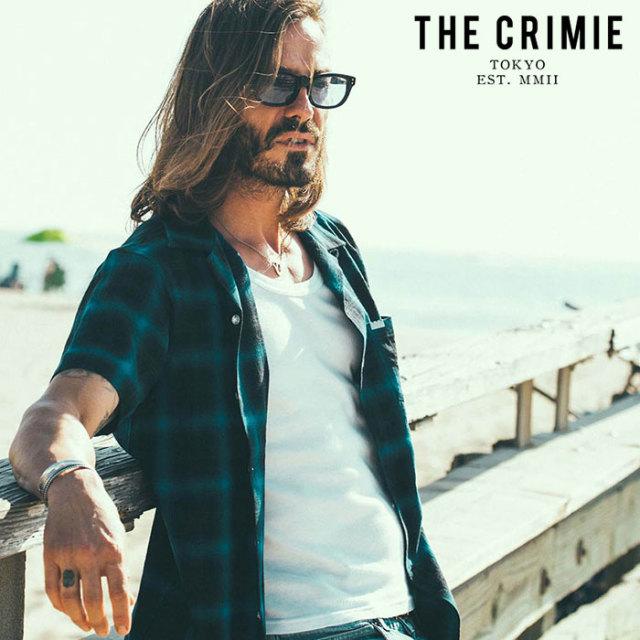 CRIMIE(クライミー) OMBRE CHECK SHORT SLEEVE SHIRT 【チェックシャツ 半袖シャツ】【ブラック ブルー レッド  アメカジ ミリタリ