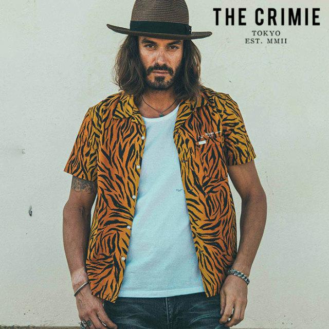 CRIMIE(クライミー) TORA GLGB SHORT SLEEVE SHIRT 【オープンカラーシャツ 半袖シャツ】【イエロー カーキ アメカジ ミリタリー】