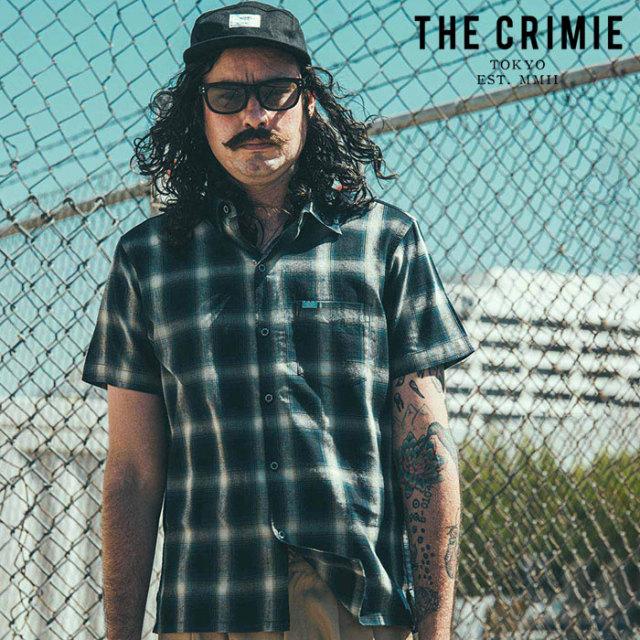 CRIMIE(クライミー) CHECK SHORT SLEEVE SHIRT 【オンブレチェックシャツ 半袖シャツ】【ブルー レッド ブラック アメカジ ミリタ