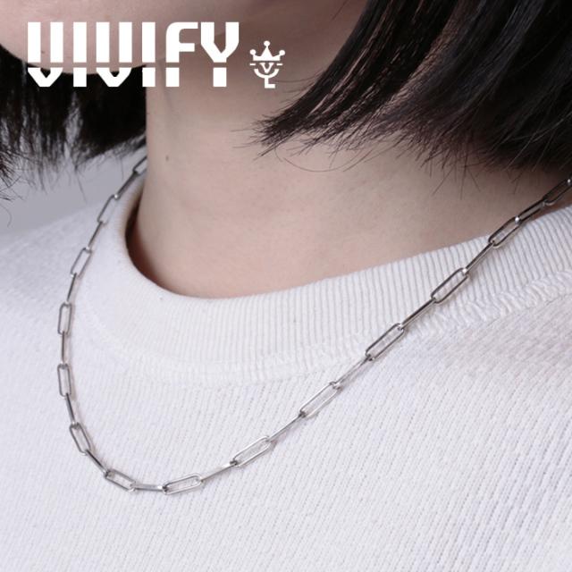 VIVIFY(ヴィヴィファイ)(ビビファイ) Rectangle Chain Necklace 【VIVIFY ネックレス】【VFCL-004】【オーダーメイド ハンドメイド
