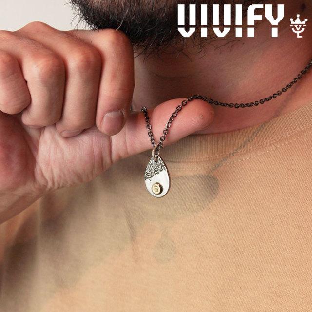 VIVIFY(ヴィヴィファイ)(ビビファイ) Plane TeardropPlate PendantHead/ k18gold Logo 【オーダーメイド 受注生産】【キャンセル不