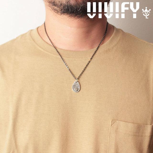VIVIFY(ヴィヴィファイ)(ビビファイ) Texture TeardropPlate PendantHead/ Logo 【オーダーメイド 受注生産】【キャンセル不可】
