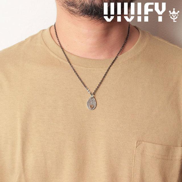 VIVIFY(ヴィヴィファイ)(ビビファイ) Texture TeardropPlate PendantHead/k18gold Logo 【オーダーメイド 受注生産】【キャンセル