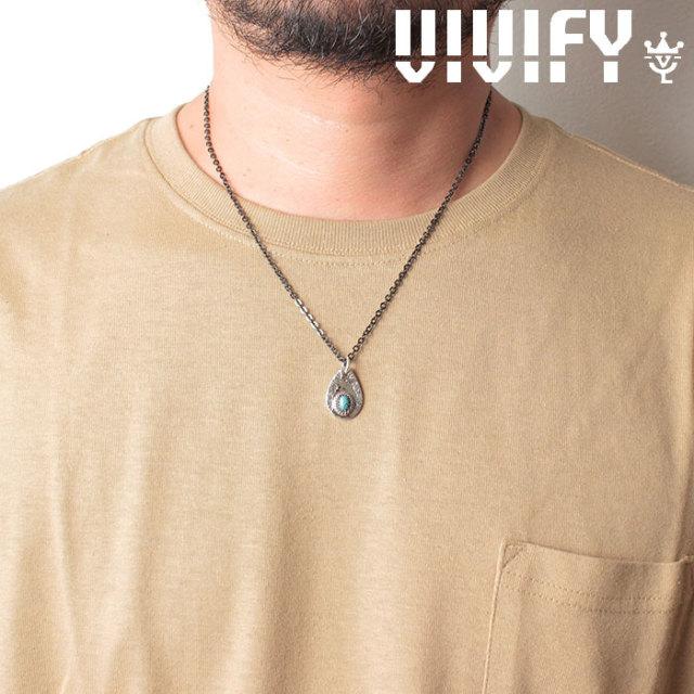 VIVIFY(ヴィヴィファイ)(ビビファイ) Plane TeardropPlate PendantHead/ Old Native Style Stone 【オーダーメイド 受注生産】【キ