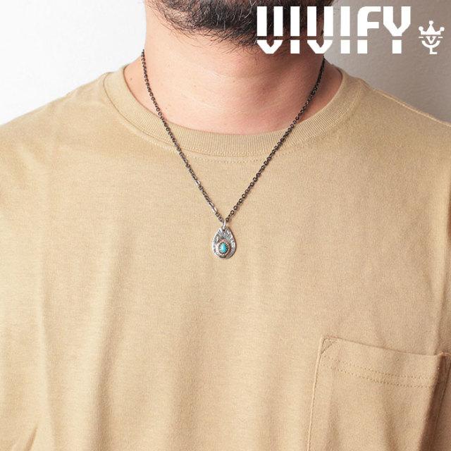 VIVIFY(ヴィヴィファイ)(ビビファイ) Plane TeardropPlate PendantHead/ k18gold RopeDeco Old Native Style Stone 【オーダーメイ
