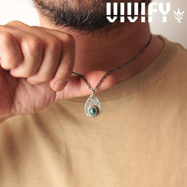 VIVIFY(ヴィヴィファイ)(ビビファイ) Texture TeardropPlate PendantHead/ k18gold RopeDeco Old Native Style Stone 【オーダーメ