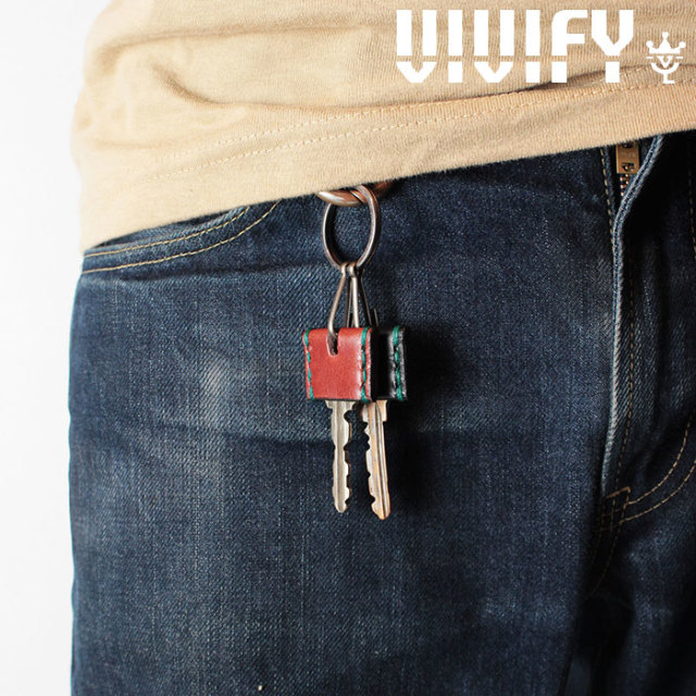 VIVIFY(ヴィヴィファイ)(ビビファイ) ColorStitch Leather KeyCover 【オーダーメイド 受注生産】【キャンセル不可】 【VIVIFY キ