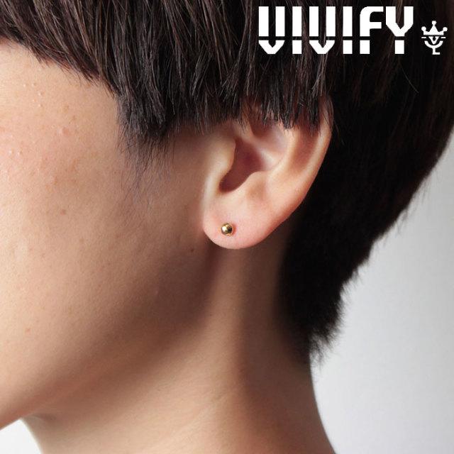 VIVIFY(ヴィヴィファイ)(ビビファイ) K18gold dot Pierce(M) 【オーダーメイド 受注生産】【キャンセル不可】 【VIVIFY ピアス
