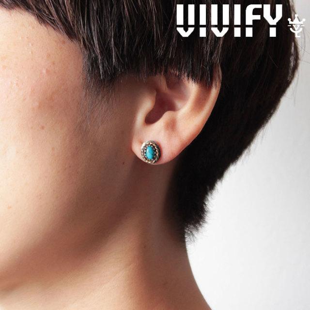 VIVIFY(ヴィヴィファイ)(ビビファイ) Old Native Style Stone Setting Pierce/k18gold RopeDeco 【オーダーメイド 受注生産】【キ