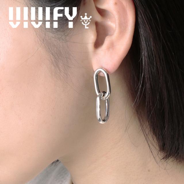 VIVIFY(ヴィヴィファイ)(ビビファイ) K18gold post Twin Link Pieace 【VIVIFY ピアス】【VFNL-008】【オーダーメイド ハンドメイ