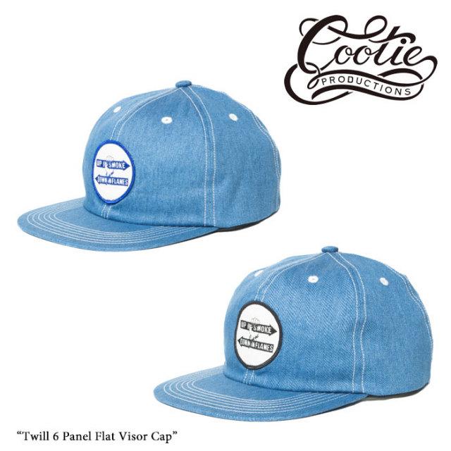 COOTIE(クーティー)Twill 6 Panel Flat Visor Cap 【CTE-17A519】