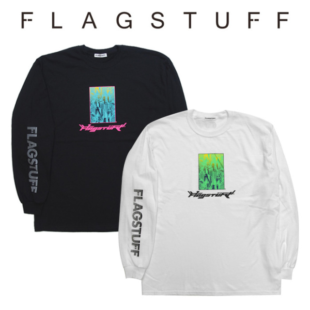 【SALE40%OFF】F-LAGSTUF-F(フラグスタフ) Bottled city L/S Tee 1 【F-LAGSTUF-F】【FLAGSTUFF】 【フラグスタフ】【フラッグス