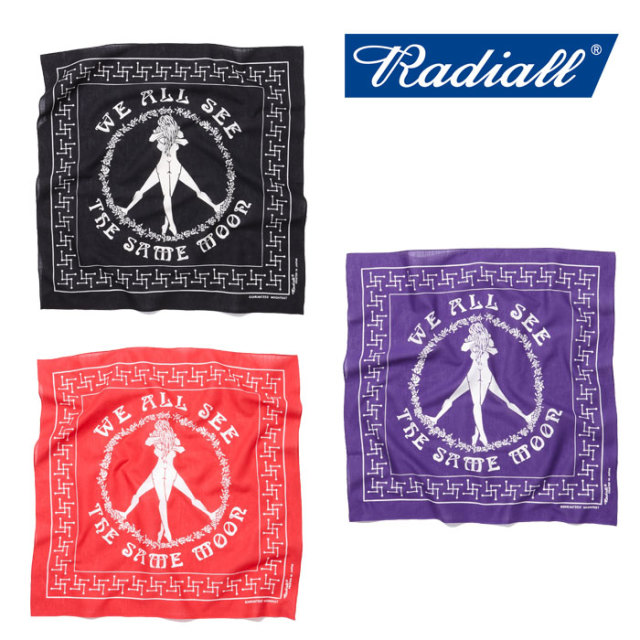 RADIALL(ラディアル) CIRCLE OF LOVE BANDANA 【2018 SPRING&SUMMER新作】 【RADIALL バンダナ】 【RAD-18SS-ACC008】