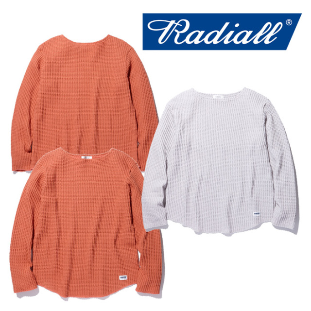 RADIALL(ラディアル) BIG WAFFLE - BOAT NECK T-SHIRT L/S 【2018 AUTUMN & WINTER COLLECTION】 【RAD-18AW-CUT006】