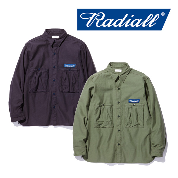 RADIALL(ラディアル) TRENCH - R.C. SHIRT L/S 【2018 AUTUMN & WINTER COLLECTION】 【RAD-18AW-SH015】【ワーク シャツ】