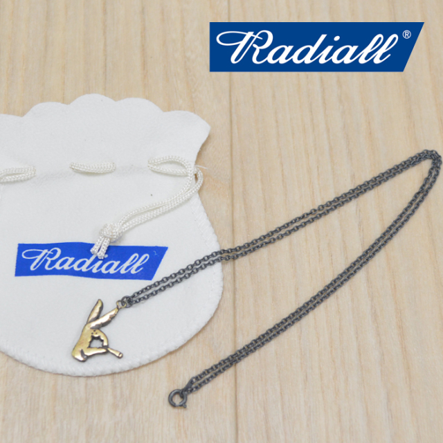 RADIALL(ラディアル) SOCIAL KLUB NECKLACE(BRASS) 【2018 AUTUMN & WINTER COLLECTION】 【RAD-JWL005-02】