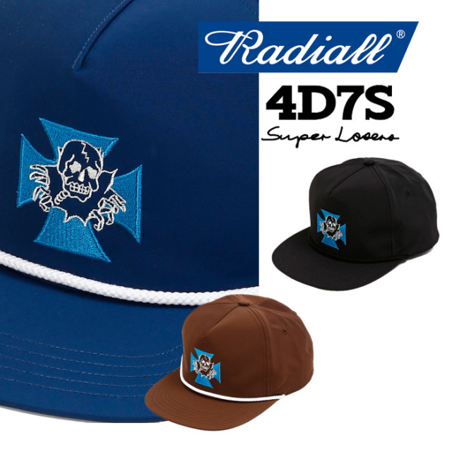 【SALE20%OFF】 RADIALL(ラディアル) 4D7S-TRUCKER CAP 【2018 AUTUMN & WINTER SPOT COLLECTION】 【RAD-18AW-SPOT-JW003】