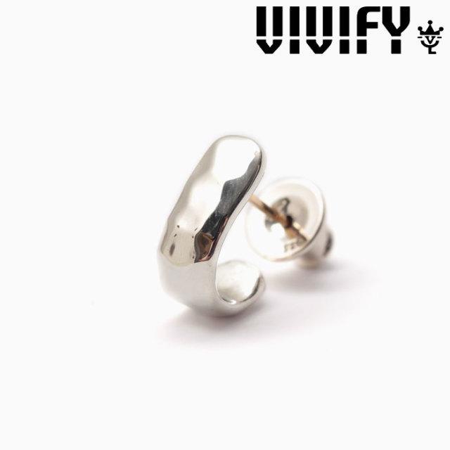 VIVIFY(ヴィヴィファイ)(ビビファイ) K18goldpost Hammered Enfold Pierce 【オーダーメイド 受注生産】 【キャンセル不可】 【V