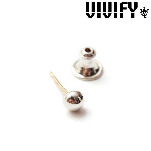 VIVIFY(ヴィヴィファイ)(ビビファイ) K18goldpost Dot Pierce (M) 【オーダーメイド 受注生産】 【キャンセル不可】 【VIVIFY ピ