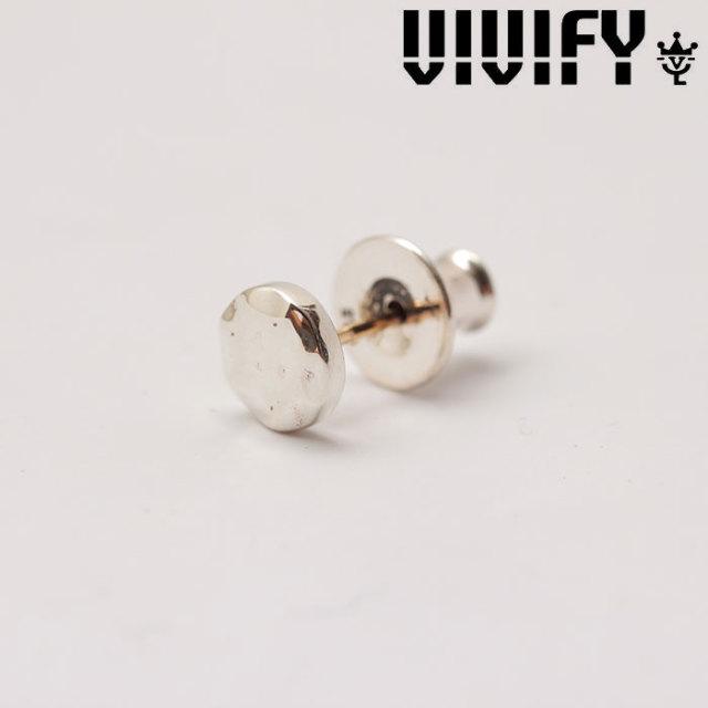 VIVIFY(ヴィヴィファイ)(ビビファイ) K18goldpost Hammered Circle Pierce 【オーダーメイド 受注生産】 【キャンセル不可】 【V