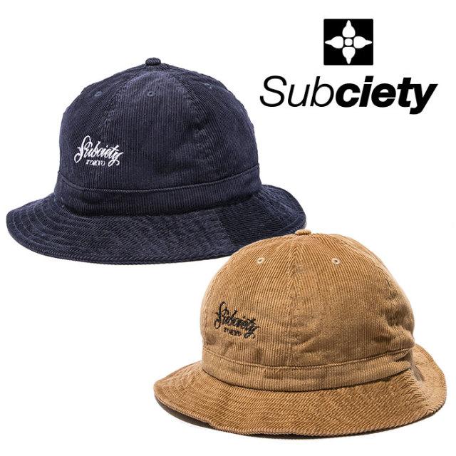 SUBCIETY(サブサエティ) CORDUROY BALL HAT 【2018AUTUMN/WINTER先行予約】 【キャンセル不可】 【107-86337】