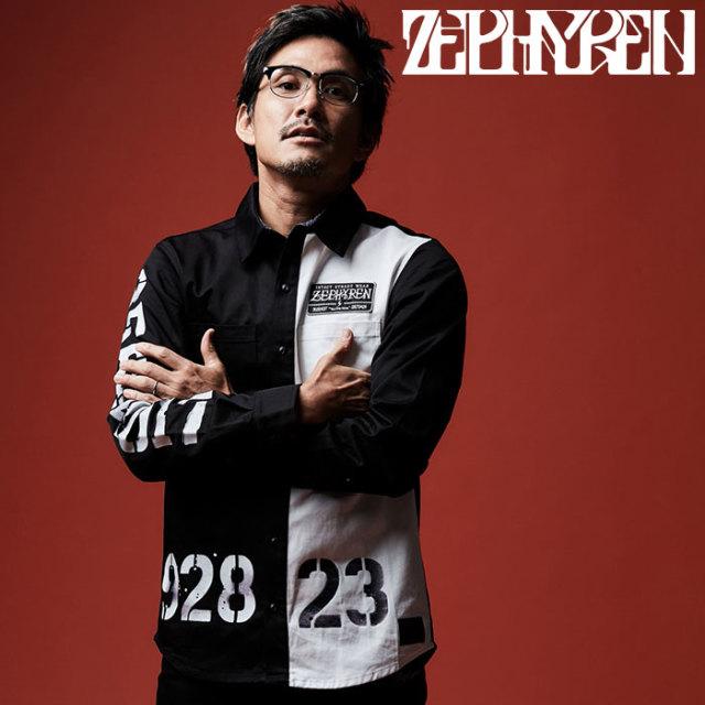 ZEPHYREN(ゼファレン) EMBLEM SHIRT L/S 【エンブレムシャツ 長袖】【Z16AD01】 【2020SPRING&SUMMER先行予約】【キャンセル不可