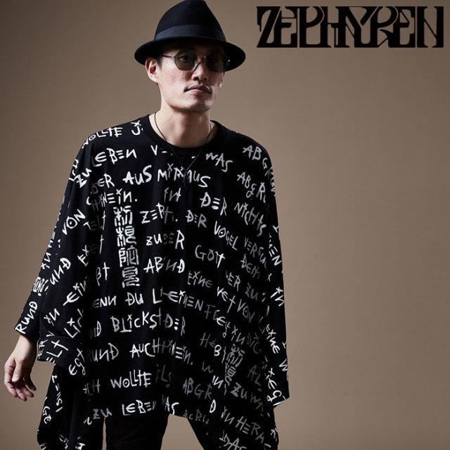 ZEPHYREN(ゼファレン) PONCHO TEE L/S  【ポンチョ 長袖】【Z17AI04】 【2020SPRING&SUMMER先行予約】【キャンセル不可】