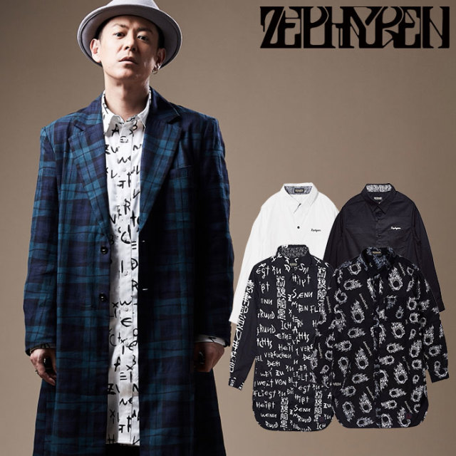 ZEPHYREN(ゼファレン) LONG SHIRT L/S  【ロングシャツ 長袖】【Z18PD03】 【2020SPRING&SUMMER先行予約】【キャンセル不可】